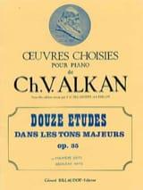 Charles Henri Valentin Aîné Alkan - 12 Etudes Dans les Tons Majeur Opus 35 Volume 1 - Partition - di-arezzo.fr