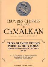 Charles-Valentin Alkan - 3 Grandes Etudes Opus 76-3 - Partition - di-arezzo.fr