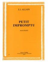 Petit Impromptu Edmée. J Allain Partition Piano - laflutedepan.com