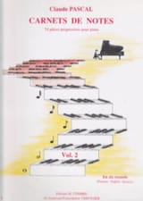 Carnets De Notes - Volume 2 Claude Pascal Partition laflutedepan