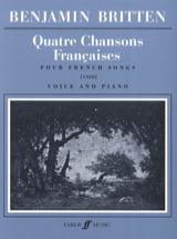4 Chansons Françaises Benjamin Britten Partition laflutedepan.com