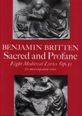 Sacred And Profane Opus 91 - Benjamin Britten - laflutedepan.com
