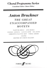 Anton Brückner - The Great Unaccompanied Motets - Partition - di-arezzo.fr