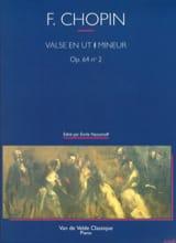 Valse En Ut dièse Mineur Opus 64-2 CHOPIN Partition laflutedepan.com