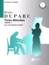 Henri Duparc - 13 Melodies. Aloud - Sheet Music - di-arezzo.co.uk