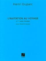 Henri Duparc - 旅行への招待。高い声 - 楽譜 - di-arezzo.jp