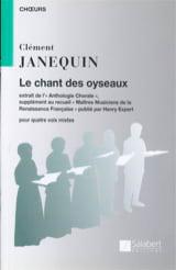 Clément Janequin - Le Chant des Oiseaux - Partition - di-arezzo.fr