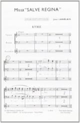 Jean Langlais - Missa Salve Regina. Choeur seul - Partition - di-arezzo.fr