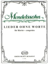 MENDELSSOHN - Romances without words. - Sheet Music - di-arezzo.co.uk
