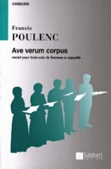Francis Poulenc - Ave Verum Corpus - Sheet Music - di-arezzo.co.uk