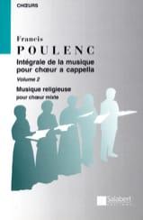 Intégrale de la Musique Chorale A Cappella. Volume 2 - laflutedepan.com