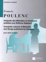 Intégrale des Mélodies et Chansons Francis Poulenc laflutedepan.com