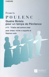 Tristis est anima mea - Francis Poulenc - laflutedepan.com