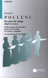 Un Soir de Neige Francis Poulenc Partition Chœur - laflutedepan.com