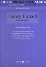 5 Anthems - Henry Purcell - Partition - Chœur - laflutedepan.com