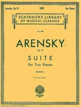 Anton Arensky - Suite Opus 15 2 Pianos - Sheet Music - di-arezzo.co.uk