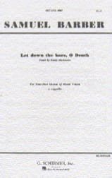 Samuel Barber - Let's go to the bars, O Death - Sheet Music - di-arezzo.co.uk