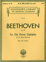 BEETHOVEN - An Die Ferne Geliebte Opus 98. Voix Grave - Partition - di-arezzo.fr