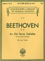 Ludwig van Beethoven - An Die Ferne Geliebte Opus 98. Voix Grave - Partition - di-arezzo.fr
