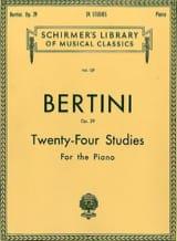 24 études op. 29 Henri Bertini Partition Piano - laflutedepan