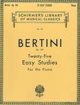 Henri Bertini - 25 Easy Studies Op. 100 - Sheet Music - di-arezzo.com