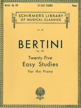 25 études faciles op. 100 Henri Bertini Partition Piano - laflutedepan
