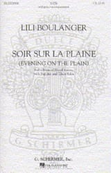 Lili Boulanger - Evening on the Plain - Sheet Music - di-arezzo.co.uk