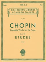 Etudes CHOPIN Partition Piano - laflutedepan.com
