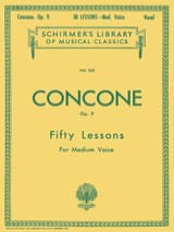 Giuseppe Concone - 50 Lessons Opus 9. Medium voice - Sheet Music - di-arezzo.co.uk