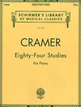 84 Studies Jean-Baptiste Cramer Partition Piano - laflutedepan.com