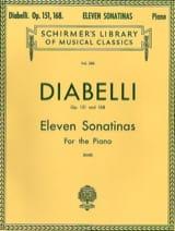 Anton Diabelli - 11 Sonatines Opus 151 et 168 - Partition - di-arezzo.fr
