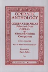 Operatic Anthology Volume 2 Mezzo Partition laflutedepan.com