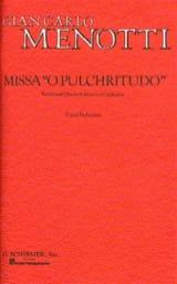 Missa O Pulchritudo Chant Piano Gian-Carlo Menotti laflutedepan.com