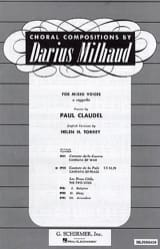 Darius Milhaud - Cantata of Peace - Sheet Music - di-arezzo.co.uk