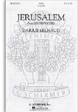 Jerusalem Darius Milhaud Partition Chœur - laflutedepan.com