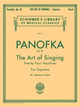 Heinrich Panofka - Art Of Singing Op. 81 Mezzo Ou Ténor - Partition - di-arezzo.fr