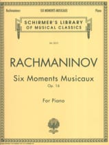 6 Moments Musicaux Opus 16 RACHMANINOV Partition laflutedepan.com