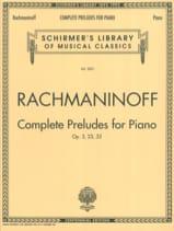 Préludes Sergei Rachmaninov Partition Piano - laflutedepan.com