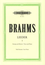 BRAHMS - Lieder Volume 1. Serious Voice - Sheet Music - di-arezzo.co.uk