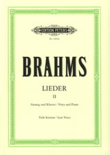 BRAHMS - Lieder Volume 2. Serious Voice - Sheet Music - di-arezzo.co.uk