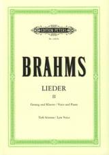 BRAHMS - Lieder Volume 2. Serious Voice - Sheet Music - di-arezzo.com