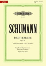 SCHUMANN - Dichterliebe Opus 48. High Voice - Sheet Music - di-arezzo.co.uk