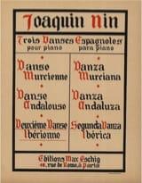Danse Iberienne Joaquin Nin-Culmell Partition Piano - laflutedepan.com