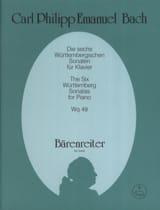 Carl-Philipp Emanuel Bach - Die 6 Württembergischen Sonaten Wq 49 - Partition - di-arezzo.fr
