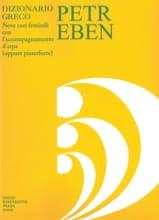 Dizionario Greco Petr Eben Partition Chœur - laflutedepan.com