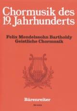 Geistliche Chormusik MENDELSSOHN Partition Chœur - laflutedepan.com