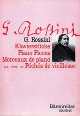 Gioachino Rossini - 5 Klavierstücke - Partition - di-arezzo.fr