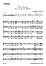 TELEMANN - From Aber, Daniel, Gehe Hin. Chorus alone - Sheet Music - di-arezzo.co.uk