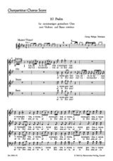 TELEMANN - Psalm 117. Laudate Jehovam. Chorus Alone - Sheet Music - di-arezzo.co.uk