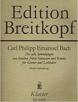 Carl-Philipp Emanuel Bach - Die 6 Sammlungen, Heft 5 Wotq 59 - Partition - di-arezzo.fr